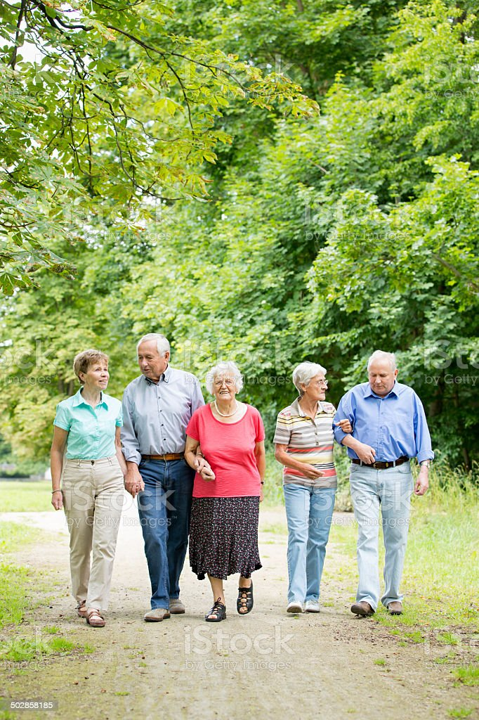 Group of senior adult stock photo