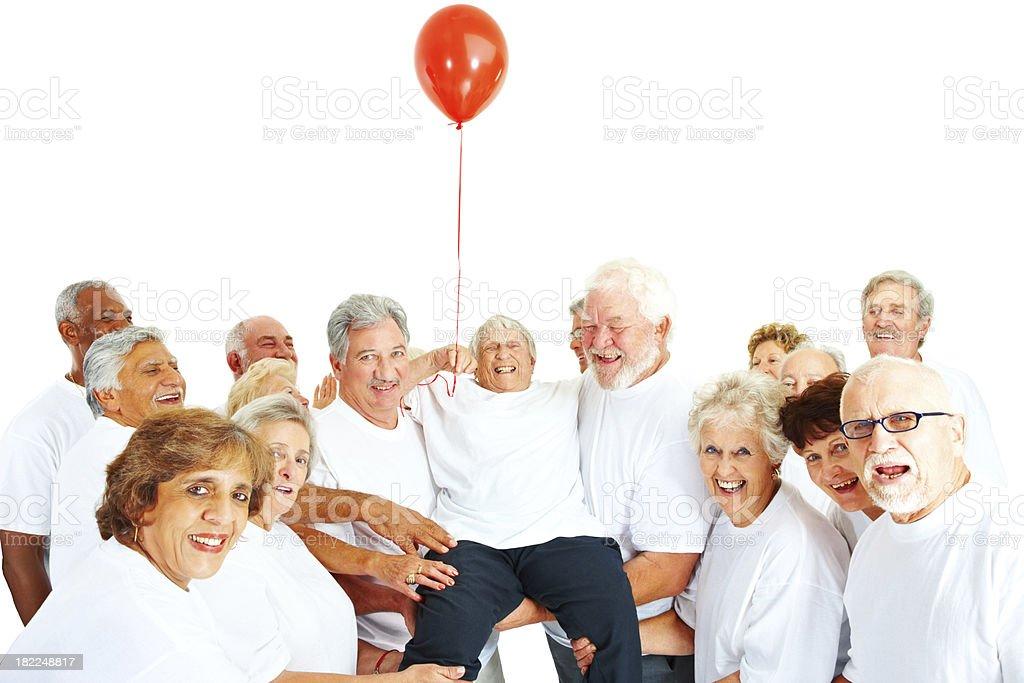 Group of senior people having fun royalty-free stock photo