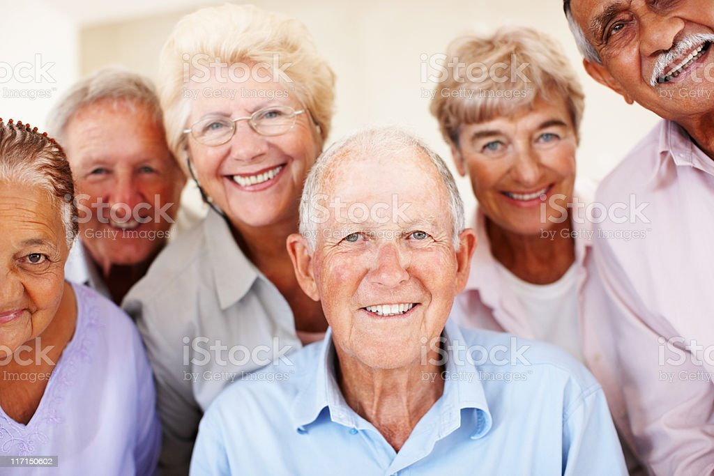 Group of senior people smiling stock photo