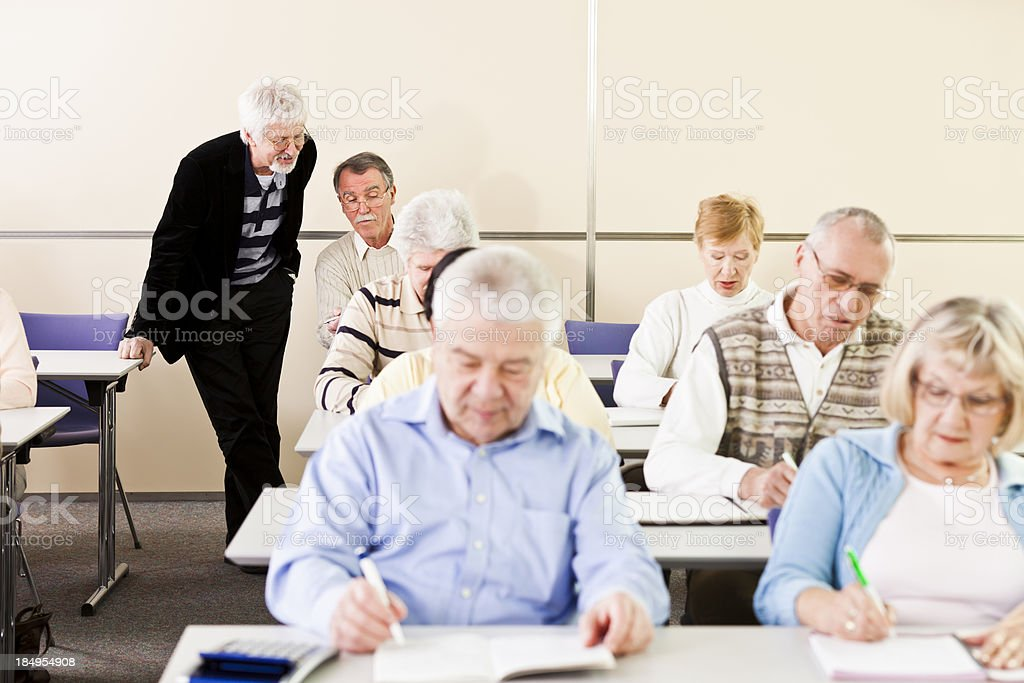 Group of seniors on business seminar royalty-free stock photo