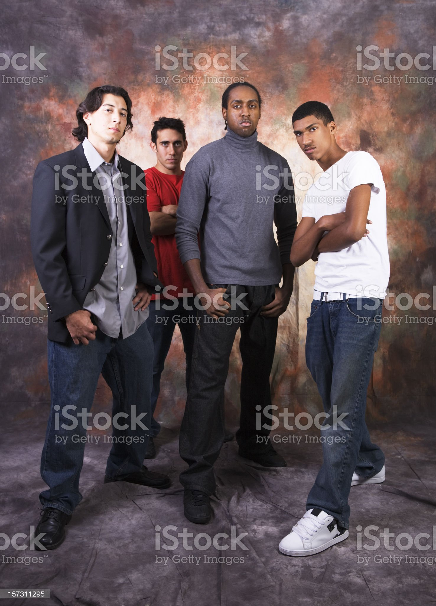Group of serious looking kids royalty-free stock photo