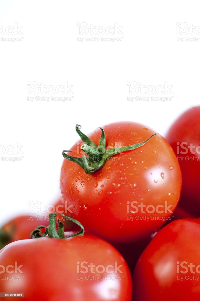 Group of shining tomatoes stock photo