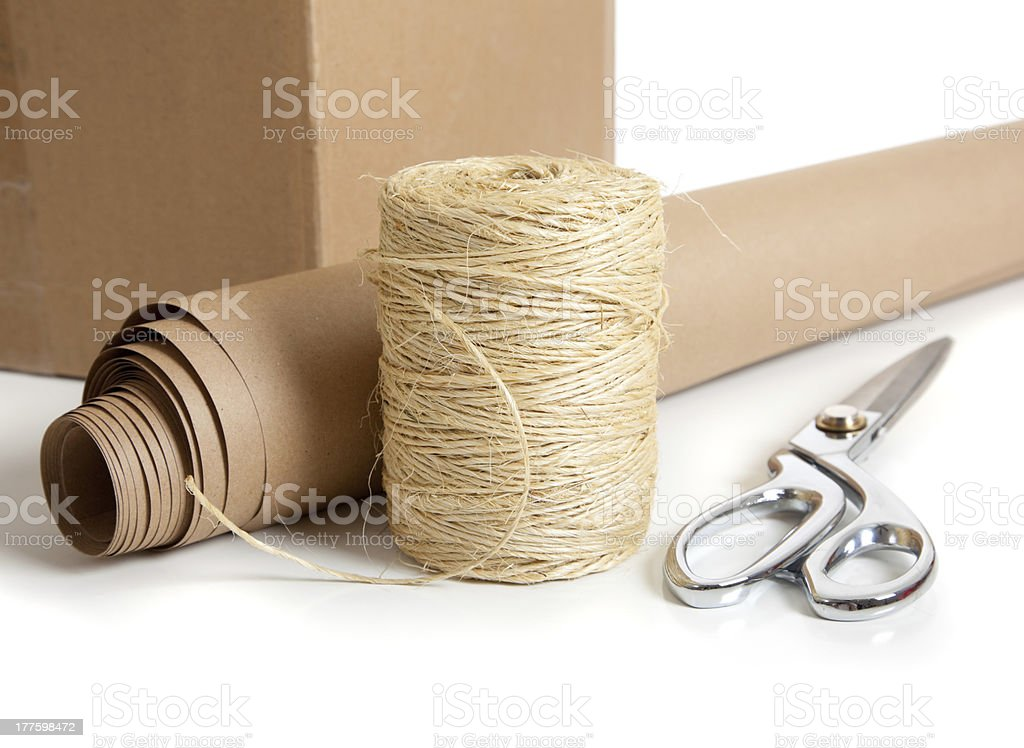 Group of Shipping supplies royalty-free stock photo