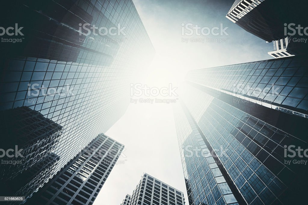 Group of Skyscrapers stock photo