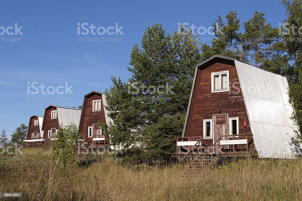 Group of small cottage royalty-free stock photo