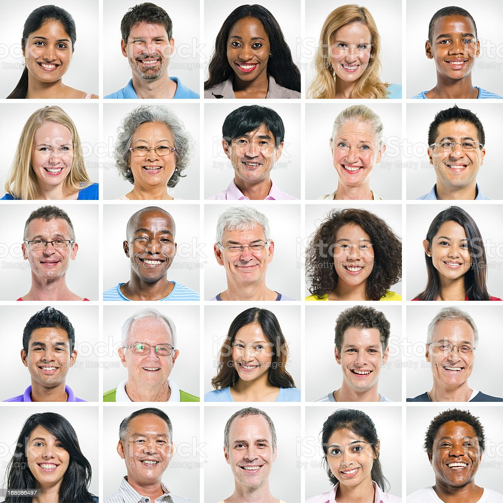 group of smiling people royalty-free stock photo