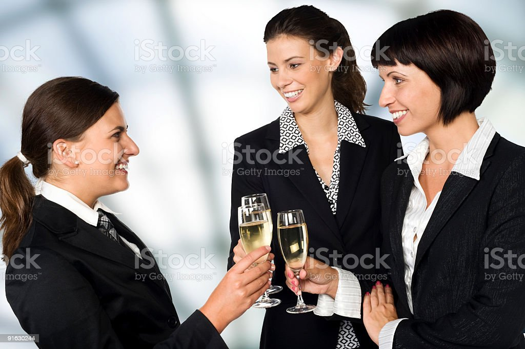 Group of smiling young businesswomen royalty-free stock photo