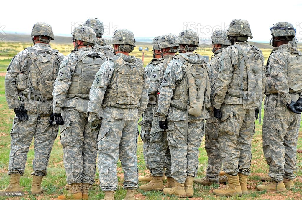 Group of Soldiers stock photo