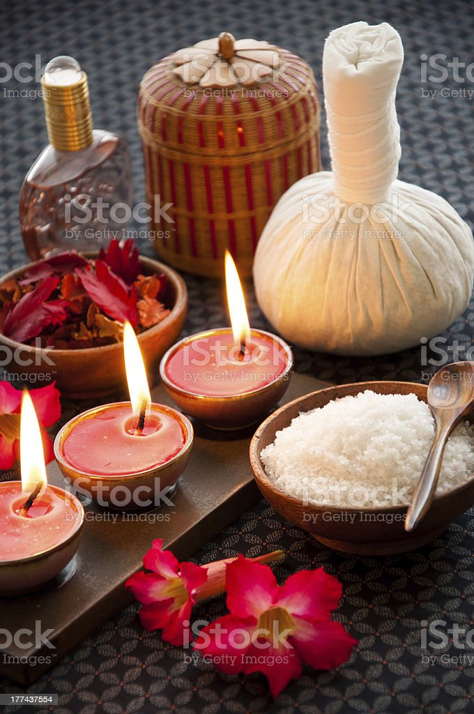 Group of spa items royalty-free stock photo