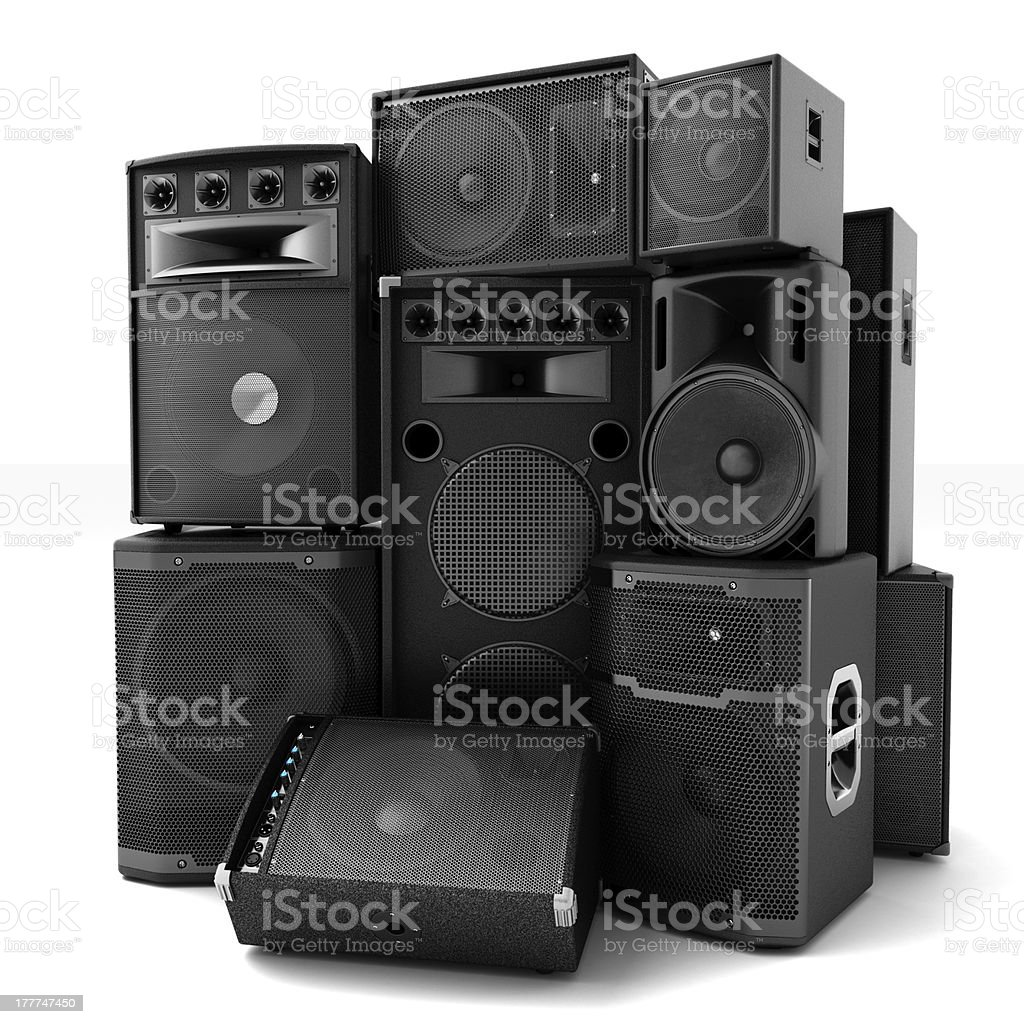 Group of speakers royalty-free stock photo