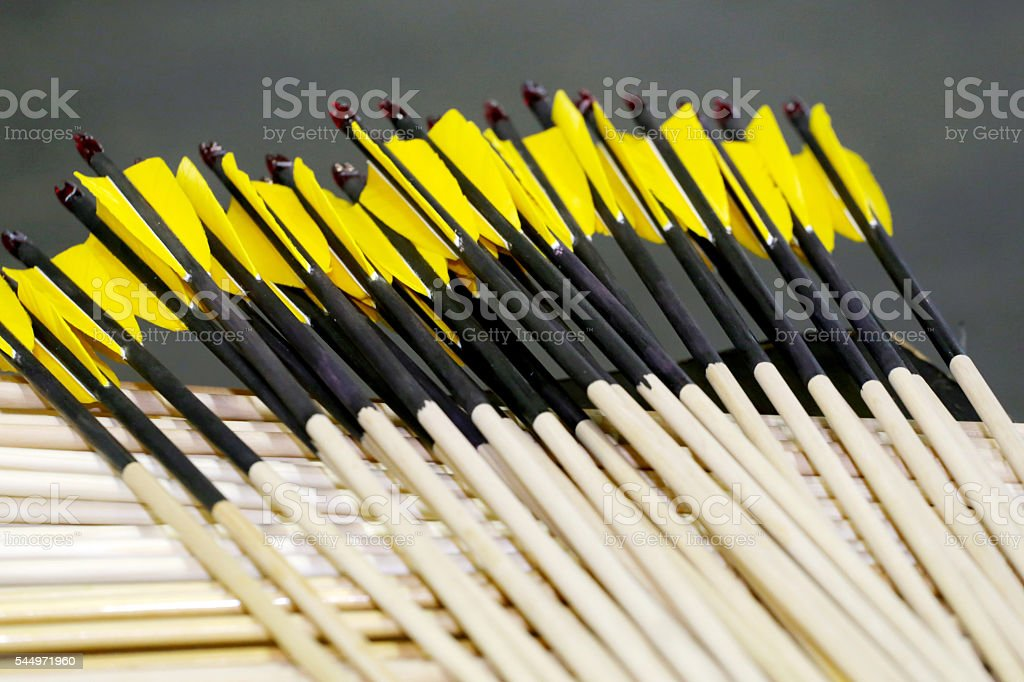 Group of sport bolt arrows in row stock photo