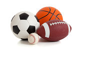 Group of Sports Balls on white