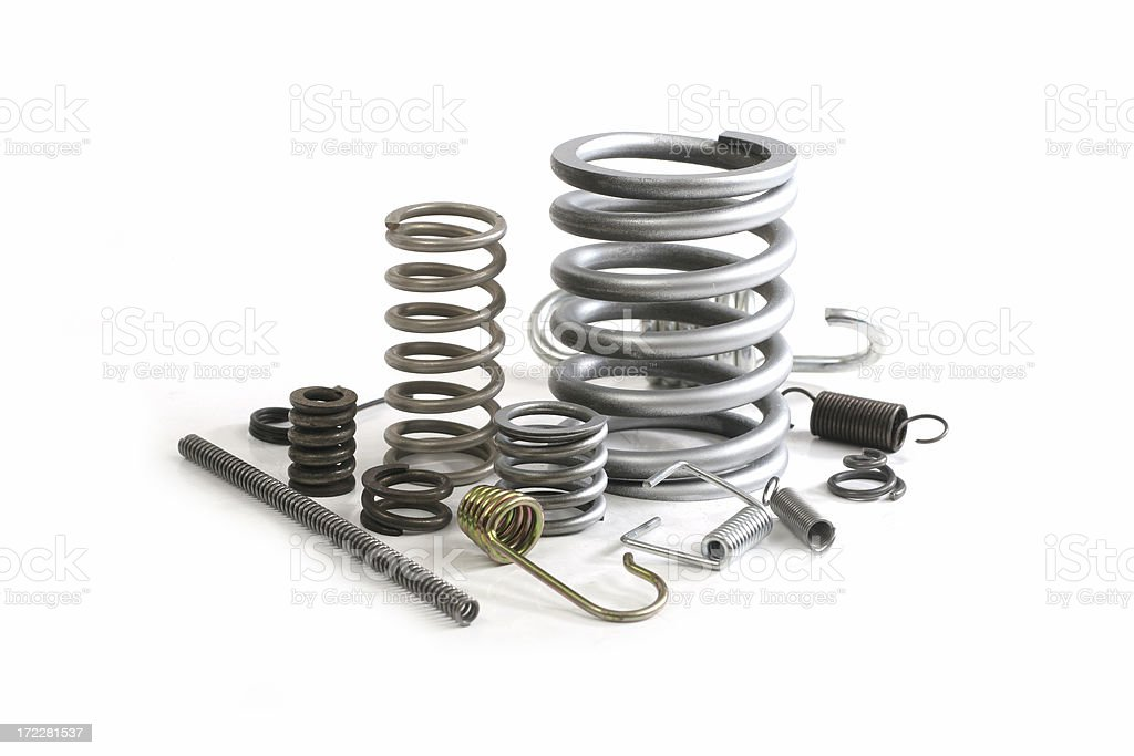 group of springs stock photo