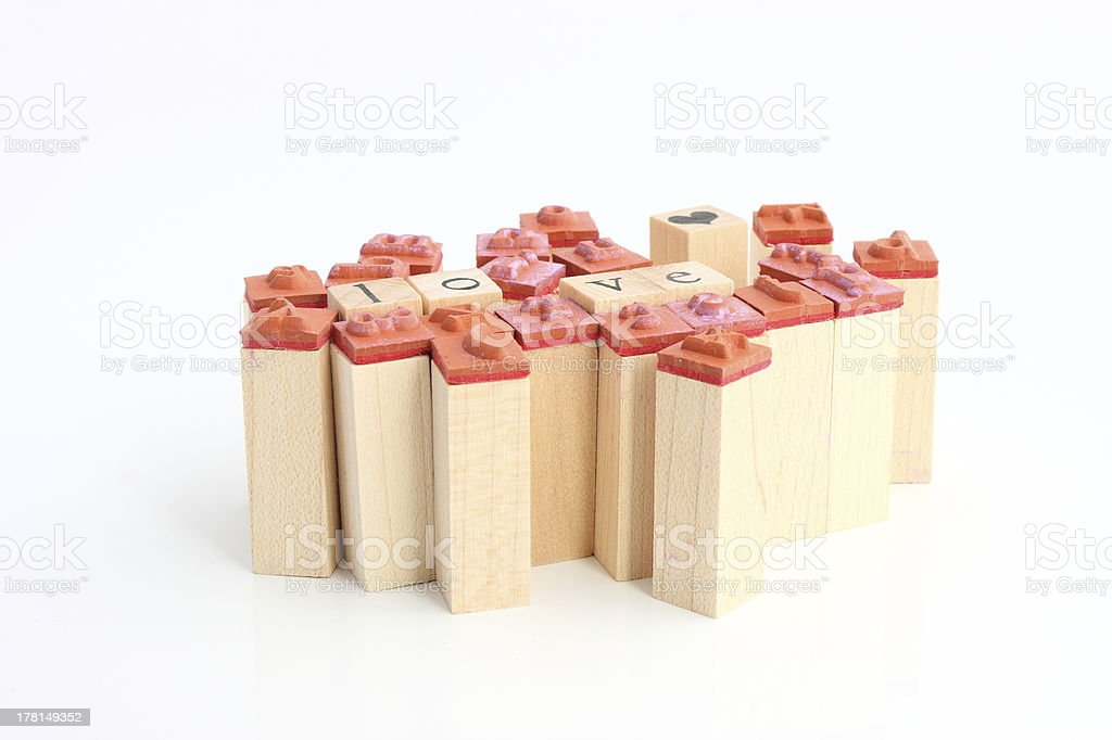 Group of stamps royalty-free stock photo