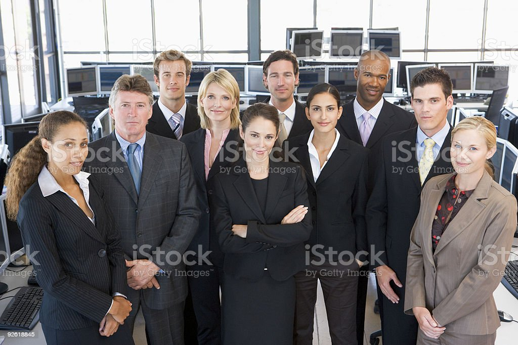 Group Of Stock Traders stock photo
