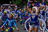 Group of street dancers celebrating festivity