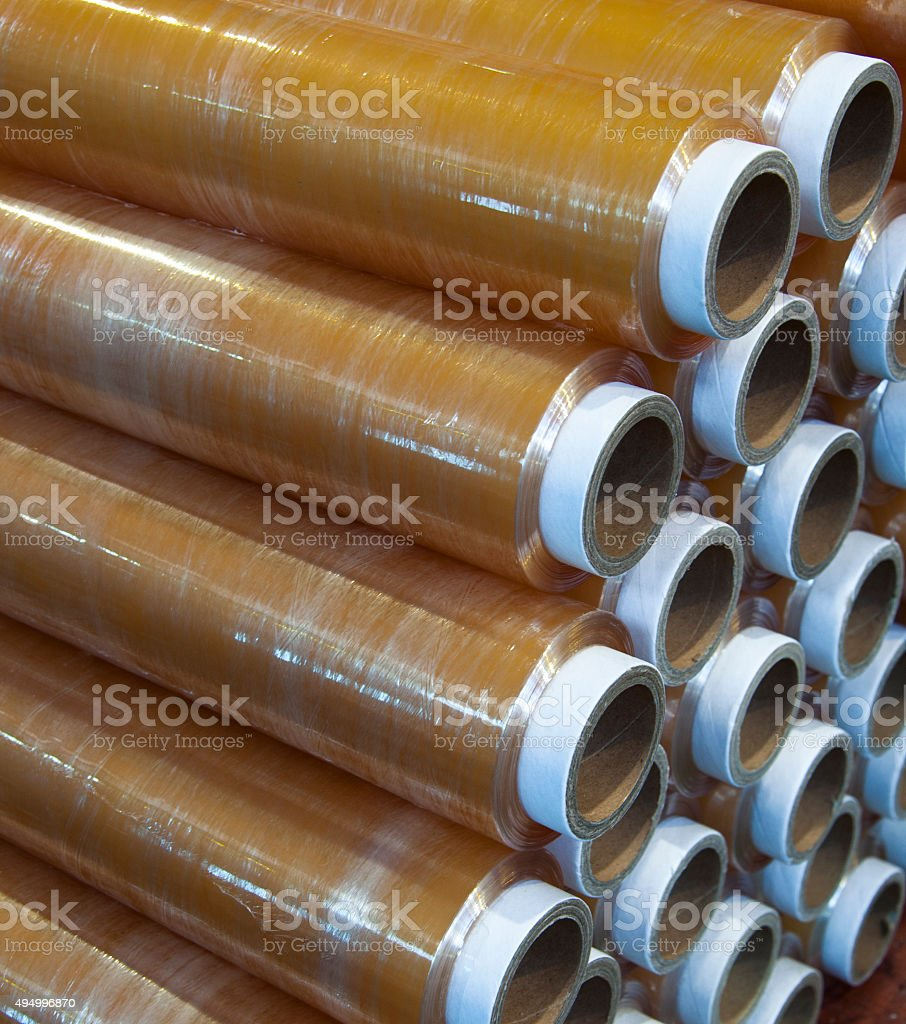Group of Stretch Films stock photo
