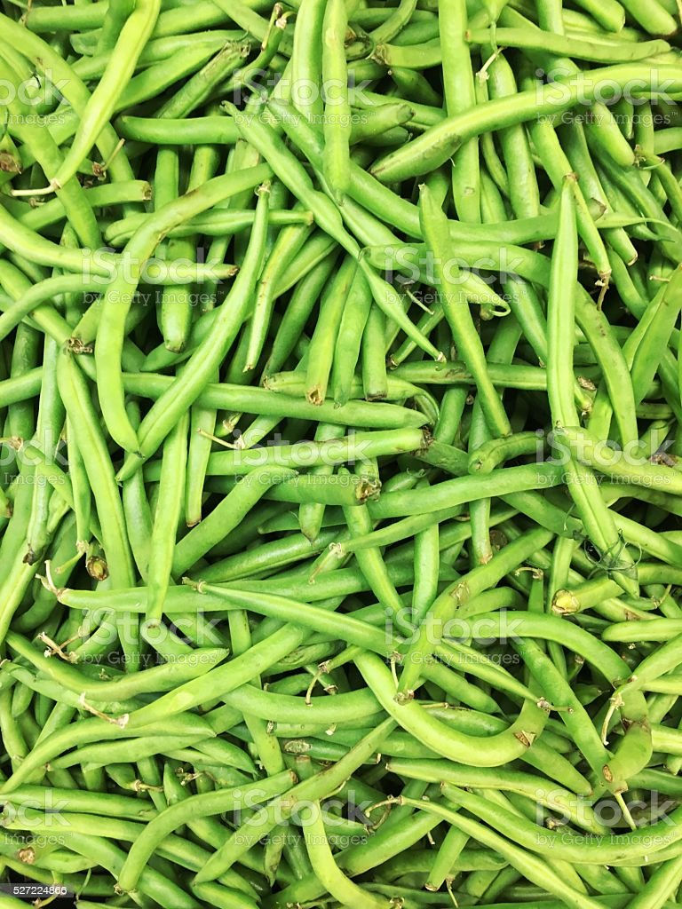 Group of string beans stock photo