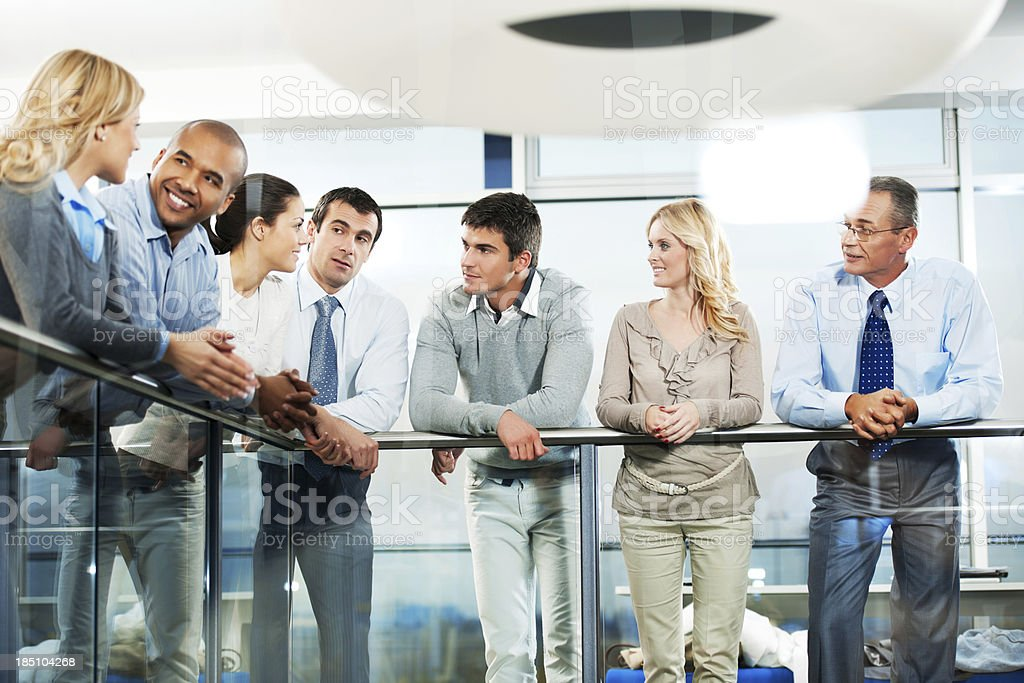 Group of  success businesspeople talking in a lobby. royalty-free stock photo