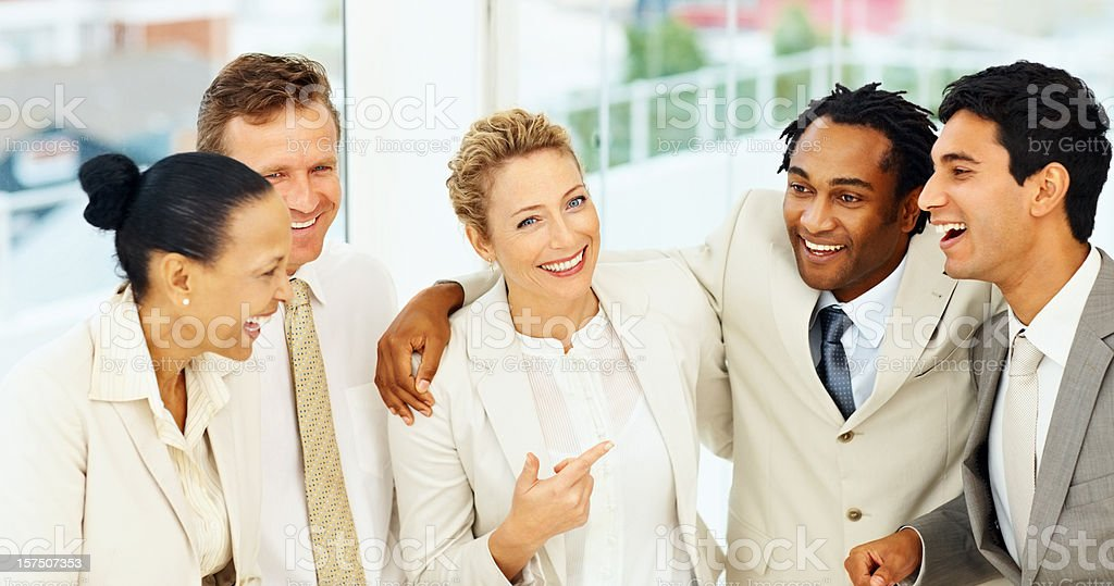 Group of successful business colleagues royalty-free stock photo