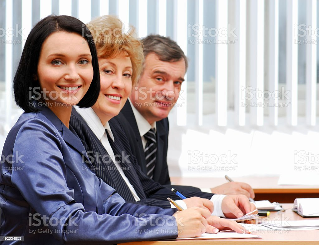 Group of  successful business people royalty-free stock photo
