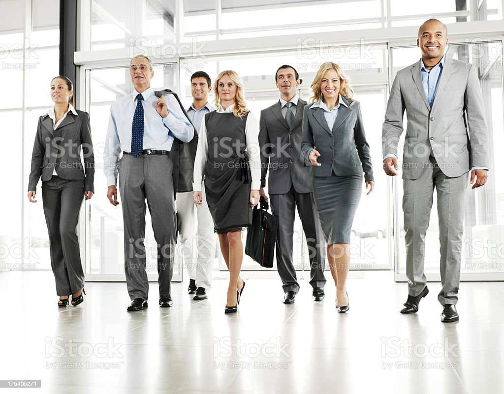Group of successful businesspeople stock photo