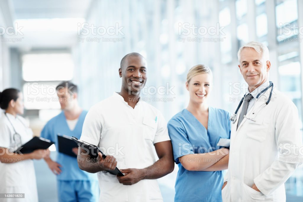 Group of successful medical professionals stock photo