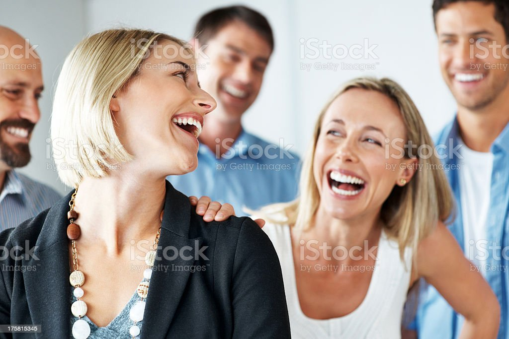 Group of successful smiling business people stock photo