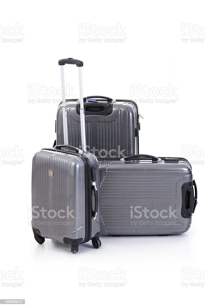Group of suitcases royalty-free stock photo