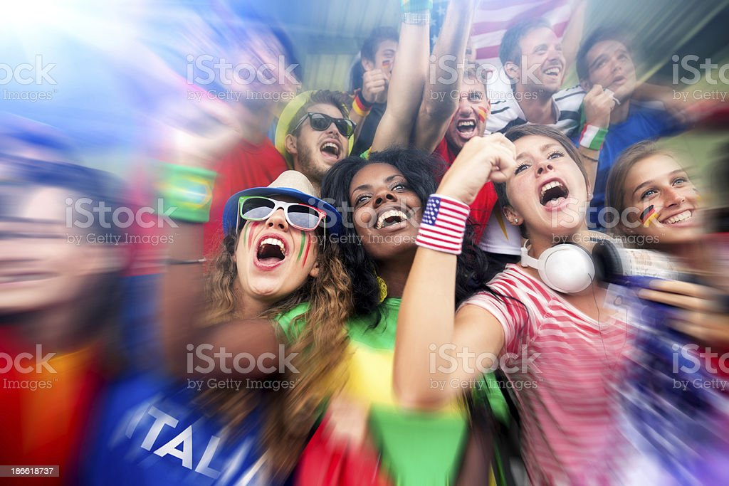 Group of supporters royalty-free stock photo