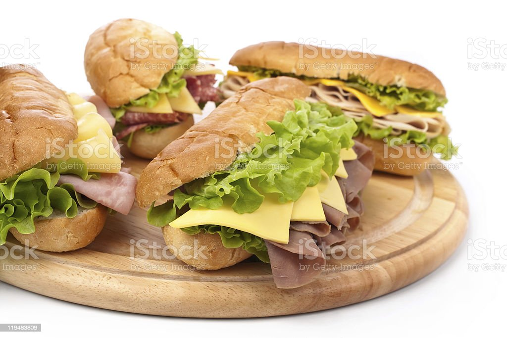 group of tasty  sandwiches royalty-free stock photo