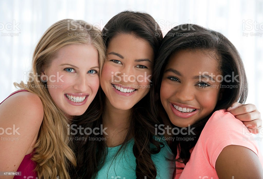 Group of teenage friends royalty-free stock photo