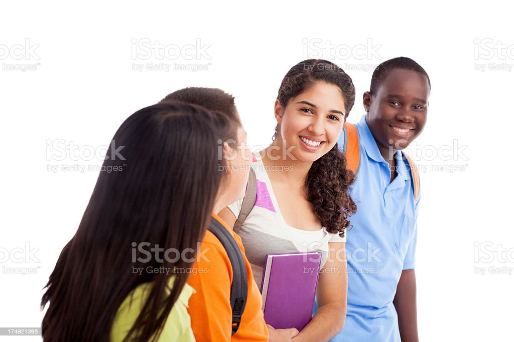 Group of teenage students royalty-free stock photo