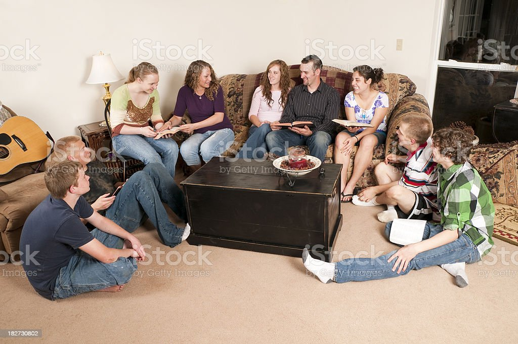 Group of Teens having a Bible Study royalty-free stock photo