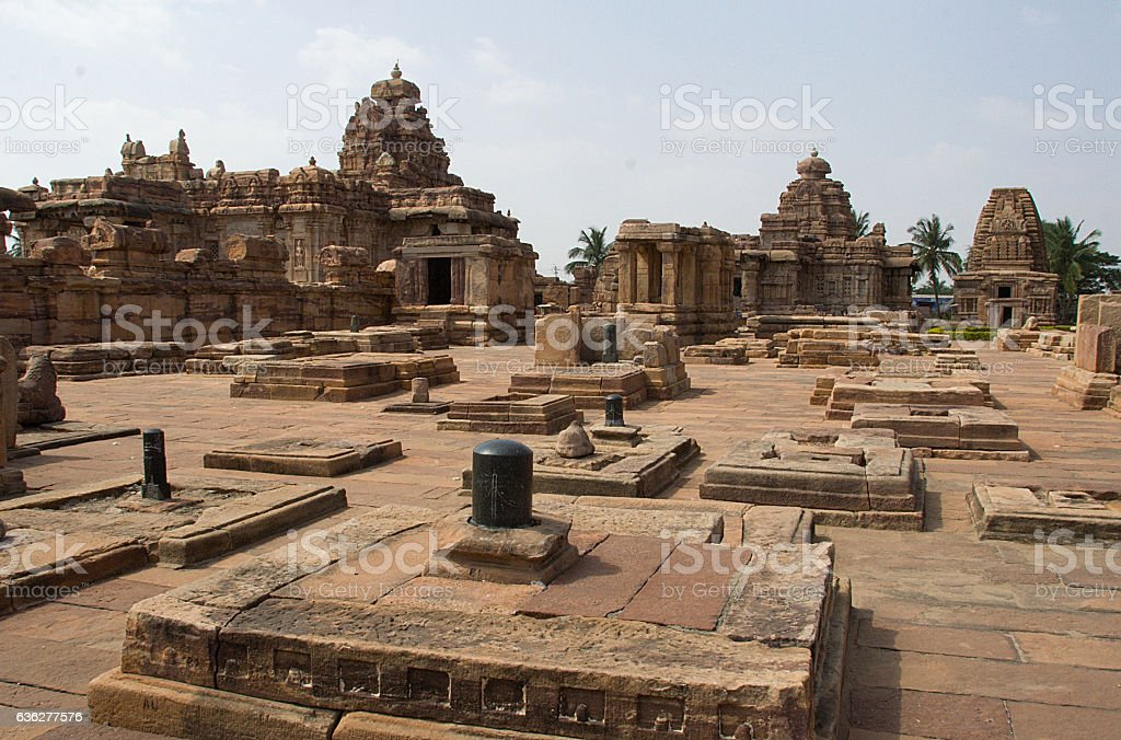 Group of Temples, Pattadakal stock photo