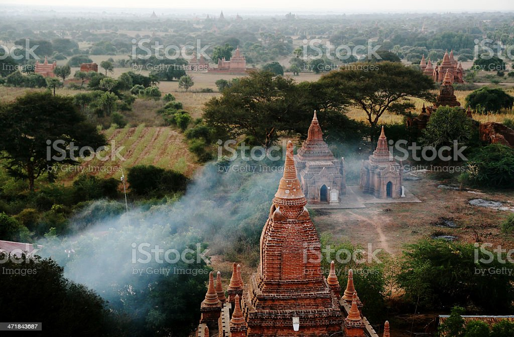 group of temples stock photo