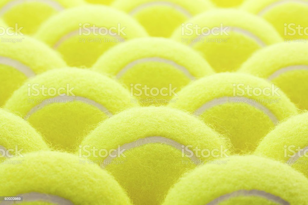 Group of Tennis Balls royalty-free stock photo