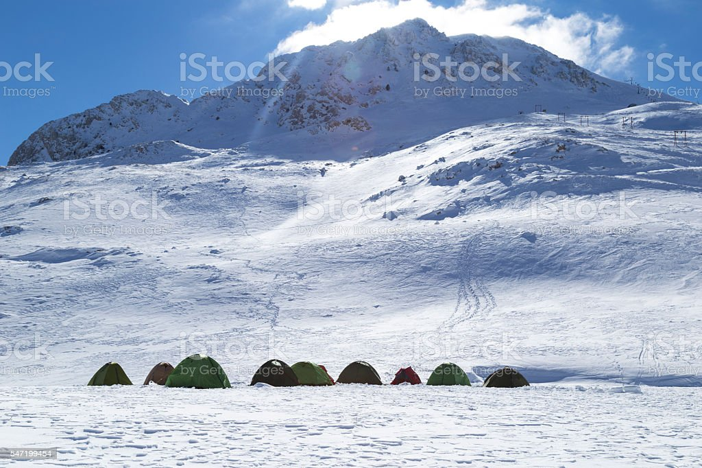 Group Of Tents stock photo