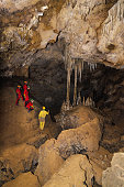group of tourist in the cave 'La Vallina'.