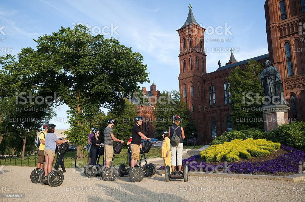 Group of tourists on segways in Washington, DC royalty-free stock photo