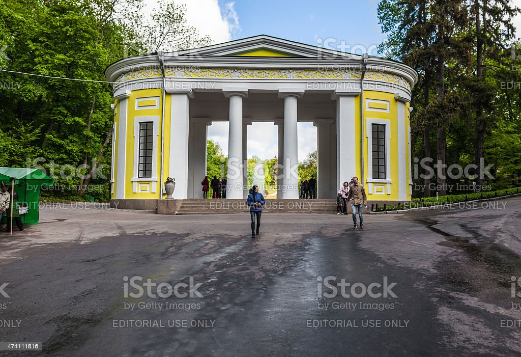 group of tourists stock photo