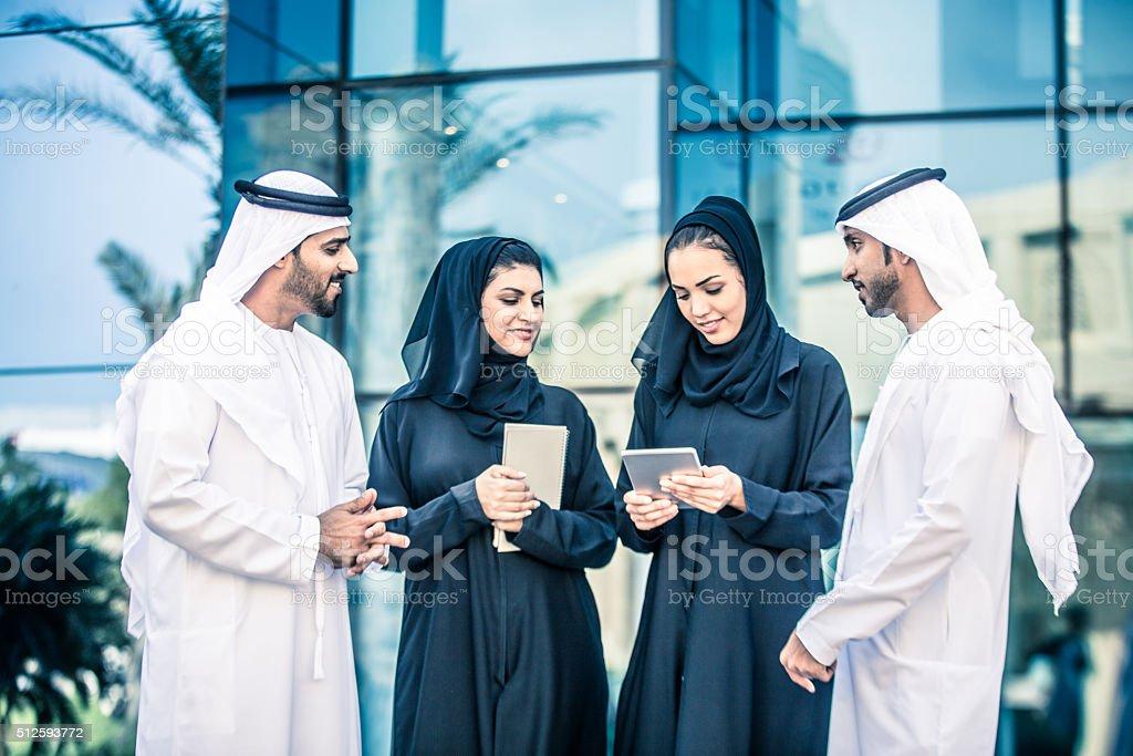 Group of UAE Nationals, Dubai, UAE stock photo