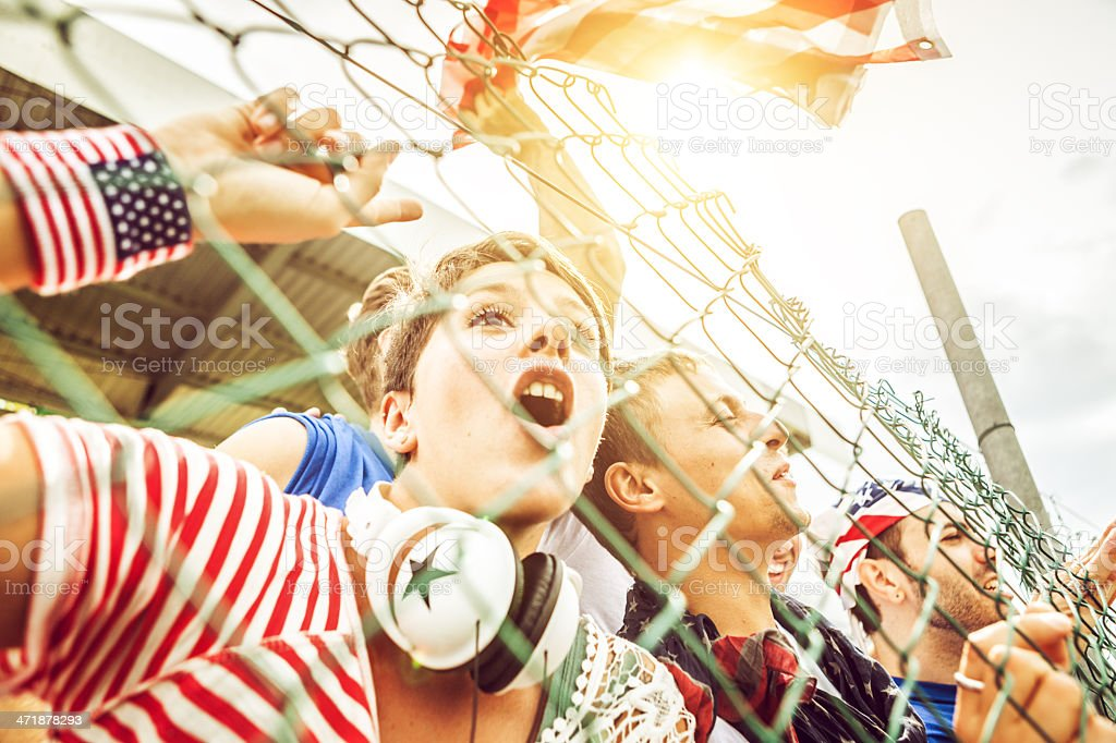 Group of Usa supporters royalty-free stock photo