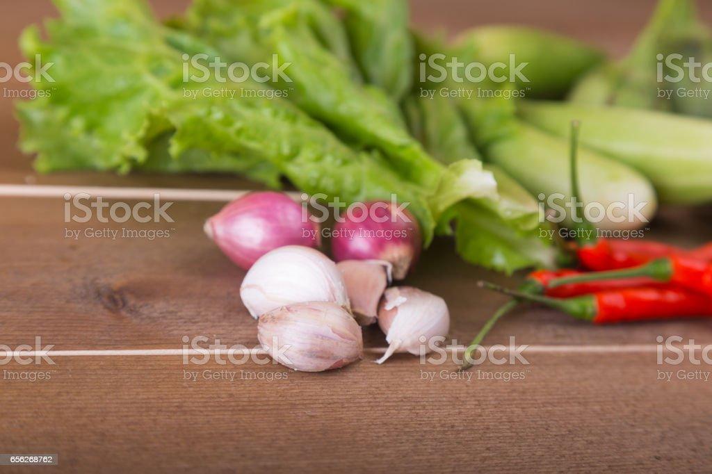 group of vegetable cucumbers,thai eggplants,long beens stock photo