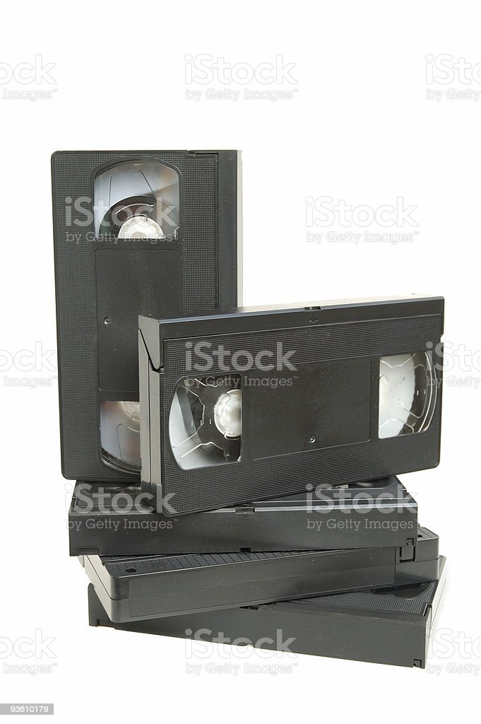 Group of video cassette royalty-free stock photo