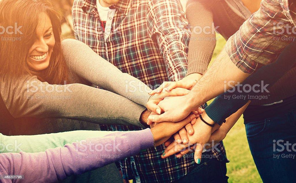 Group of volunteer royalty-free stock photo
