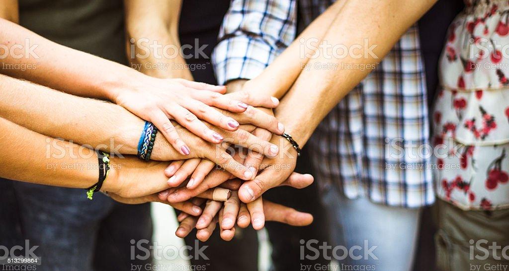 Group of volunteer stock photo