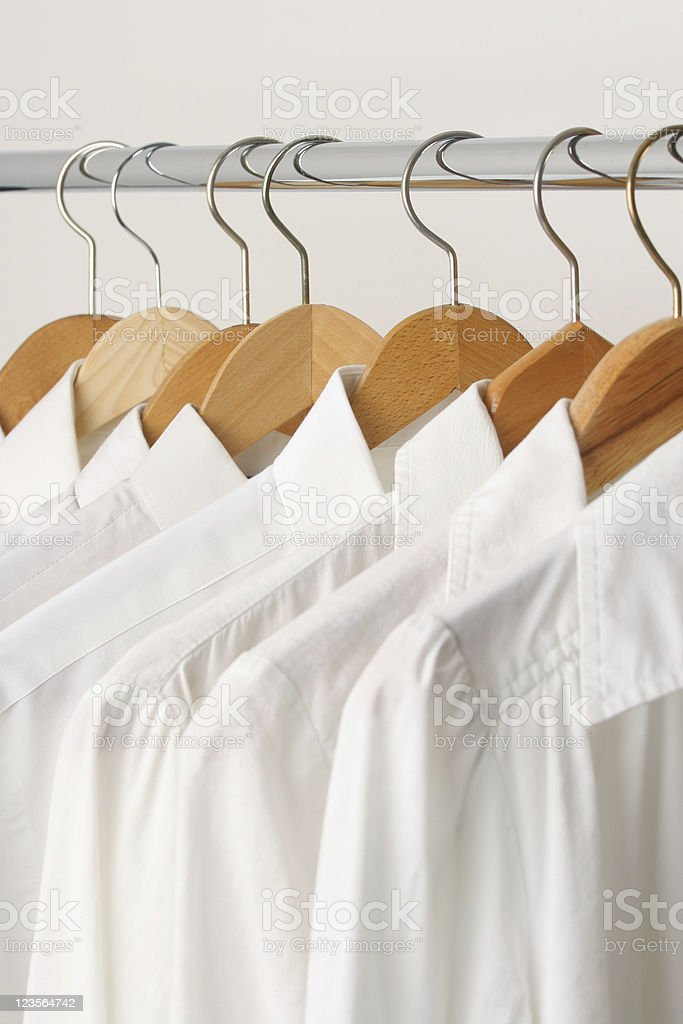 Group of white shirts royalty-free stock photo