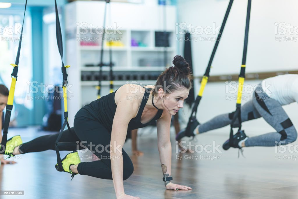 Group of Women Doing Workout stock photo