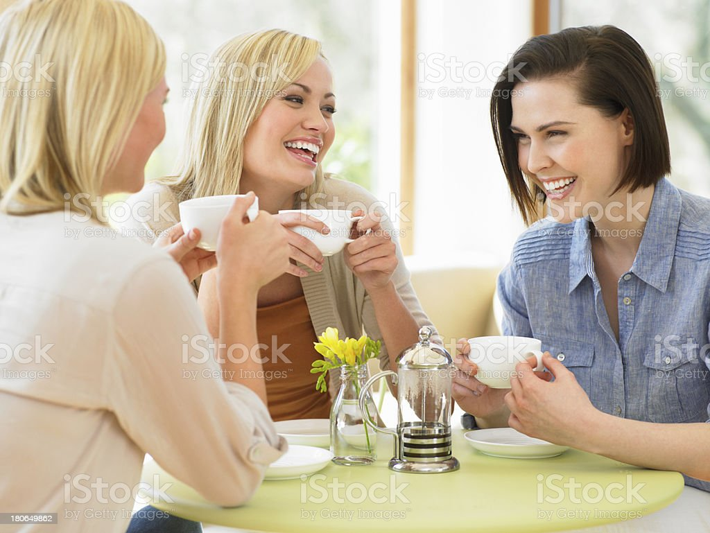 Group Of Women Meeting In Cafe stock photo